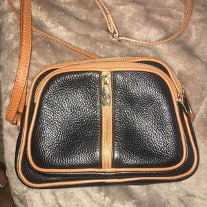 Italian Cross body Valentina brown and black purse